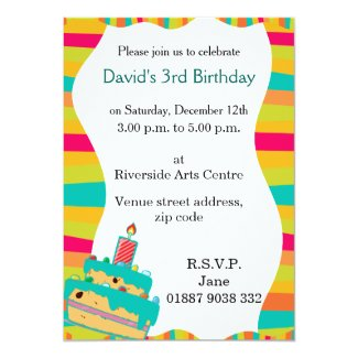 "Wobbly Kids Party Invitation 5"" X 7"" Invitation Card"