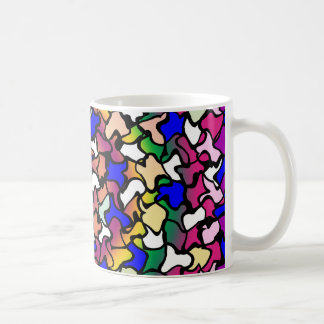 Wobbly Vibrant Tiles Coffee Mug