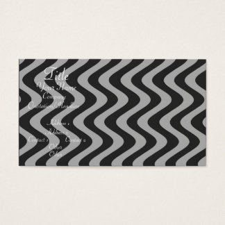 Wobbly Waves (Black/Grey) Business Card