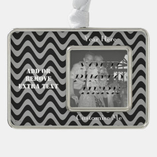 Wobbly Waves (Black/Grey) Christmas Ornament