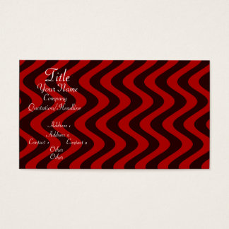 Wobbly Waves (Black/Red) Business Card