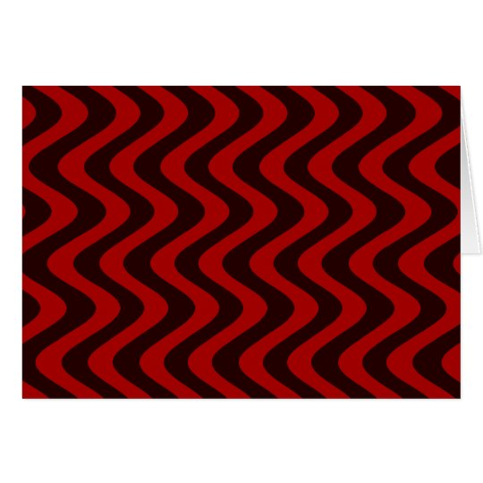 Wobbly Waves (Black/Red) Card