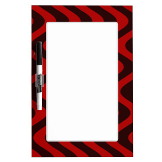 Wobbly Waves (Black/Red) Dry Erase Board