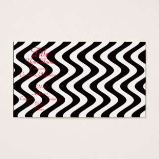 Wobbly Waves (Black/White) Business Card