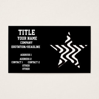 Wobbly Waves (Black/White) Star Business Card