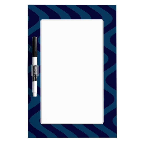 Wobbly Waves (Blue/Blue) Dry Erase Board