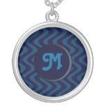 Wobbly Waves (Blue/Blue) (Monogram) Jewelry