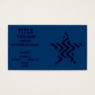 Wobbly Waves (Blue/Blue) Star Business Card