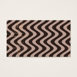 Wobbly Waves (Brown/Brown) Business Card