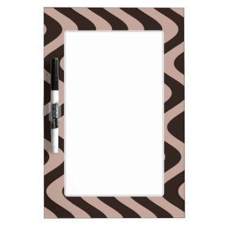 Wobbly Waves (Brown/Brown) Dry-Erase Board