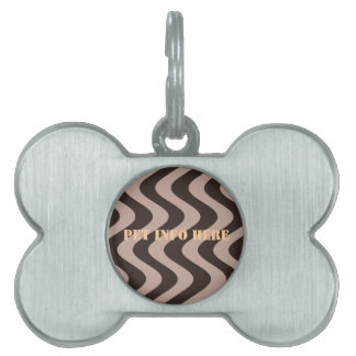 Wobbly Waves (Brown/Brown) Pet ID Tag