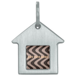 Wobbly Waves (Brown/Brown) Pet Name Tag