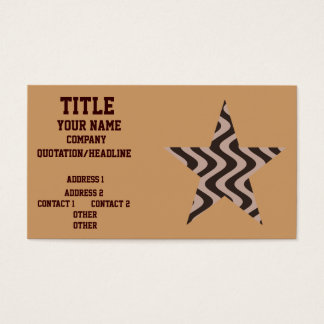 Wobbly Waves (Brown/Brown) Star Business Card
