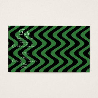 Wobbly Waves (Green/Black) Business Card
