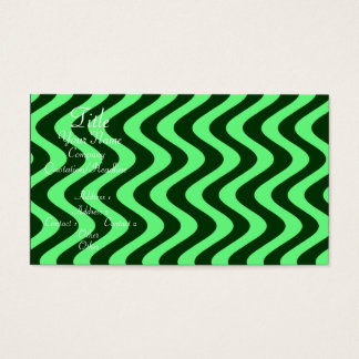 Wobbly Waves (Green/Green) Business Card