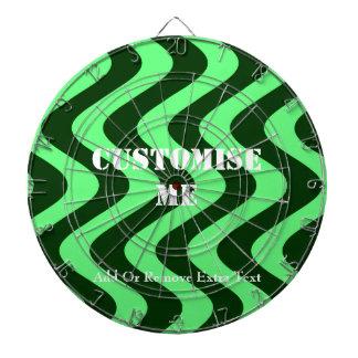 Wobbly Waves (Green/Green) Dartboard