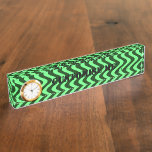 Wobbly Waves (Green/Green) Name Plate
