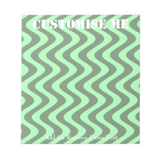 Wobbly Waves (Green/Green) Memo Pad