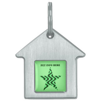 Wobbly Waves (Green/Green) Pet ID Tag