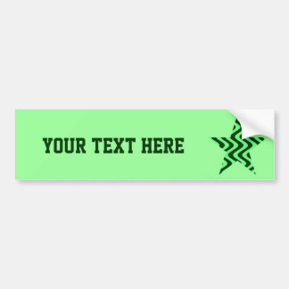 Wobbly Waves (Green/Green) Star Bumper Sticker