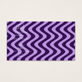 Wobbly Waves (Lilac/Violet) Business Card