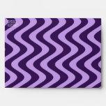 Wobbly Waves (Lilac/Violet) Envelopes