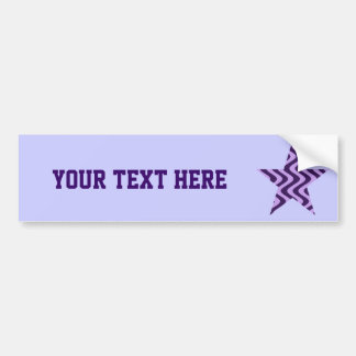 Wobbly Waves (Lilac/Violet) Star Bumper Sticker