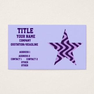 Wobbly Waves (Lilac/Violet) Star Business Card