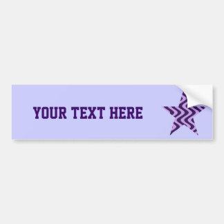 Wobbly Waves (Lilac/Violet) Star Car Bumper Sticker