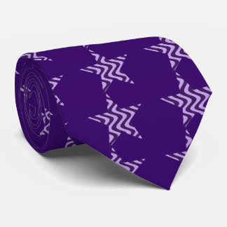 Wobbly Waves (Lilac/Violet) Star Neck Tie