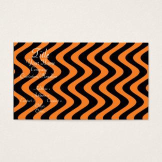 Wobbly Waves (Orange/Black) Business Card