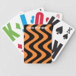 Wobbly Waves (Orange/Black) Deck Of Cards