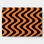 Wobbly Waves (Orange/Black) Envelopes