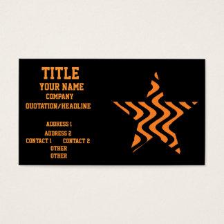 Wobbly Waves (Orange/Black) Star Business Card