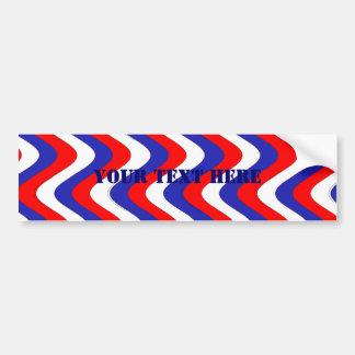 Wobbly Waves (Patriotic) Bumper Sticker