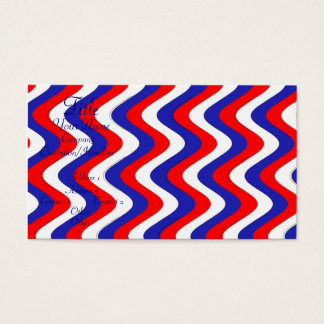 Wobbly Waves (Patriotic) Business Card