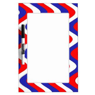 Wobbly Waves (Patriotic) Dry Erase Board