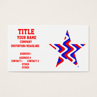Wobbly Waves (Patriotic) Star Business Card
