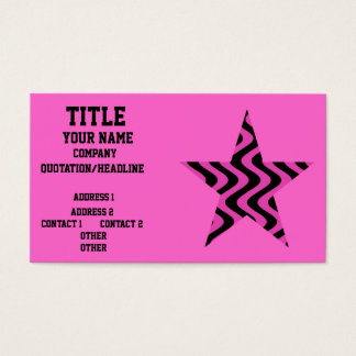Wobbly Waves (Pink/Black) Business Card