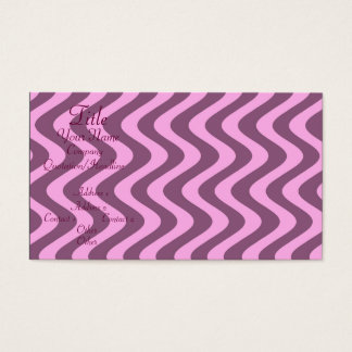 Wobbly Waves (Pink/Pink) Business Card
