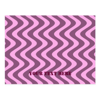 Wobbly Waves (Pink/Pink) Postcards