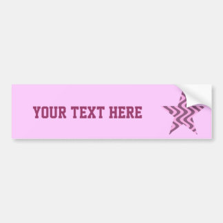 Wobbly Waves (Pink/Pink) Star Car Bumper Sticker