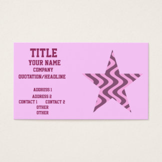 Wobbly Waves (Pink/Pink) Star Business Card