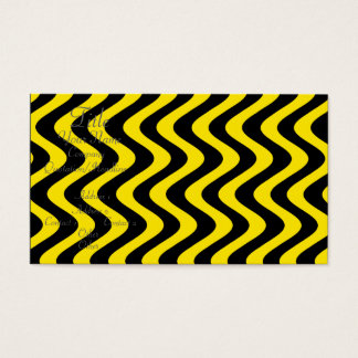 Wobbly Waves (Yellow/Black) Business Card