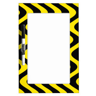 Wobbly Waves (Yellow/Black) Dry-Erase Board