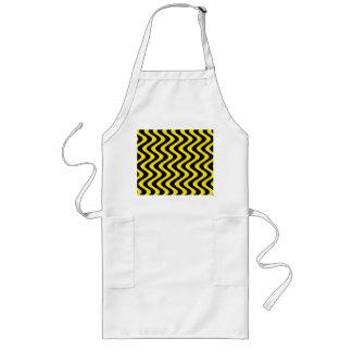 Wobbly Waves (Yellow/Black) Long Apron