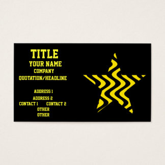 Wobbly Waves (Yellow/Black) Star Business Card