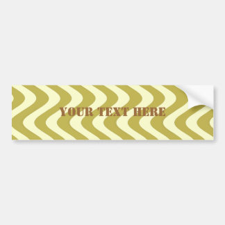 Wobbly Waves (Yellow/Yellow) Bumper Sticker