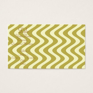 Wobbly Waves (Yellow/Yellow) Business Card