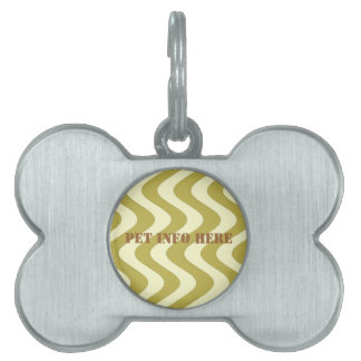 Wobbly Waves (Yellow/Yellow) Pet Name Tag